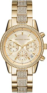 Michael Kors Women's Ritz Chronograph Gold-Tone Stainless Steel Watch MK6484