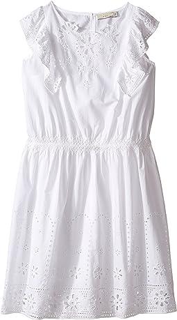 Stella McCartney Kids - Alabama Flutter Sleeve Eyelet Dress (Toddler/Little Kids/Big Kids)