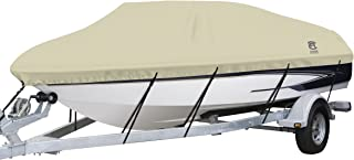 Classic Accessories DryGuard Heavy Duty Waterproof Boat Cover For V-Hull Runabouts, For 20' - 22' L Up to 106 W