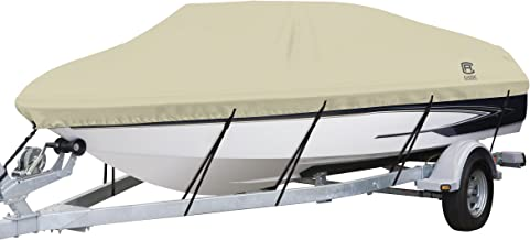 Classic Accessories DryGuard Heavy Duty Waterproof Boat Cover For V-Hull Runabouts, For 20' - 22' L Up to 106