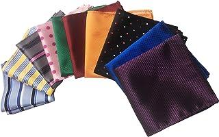 10 عبوات للرجال من ميندنج متعددة الألوان مخطط جيب منديل مربع للحفلات