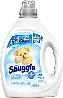 Snuggle Liquid Fabric Softener, Dye Free for Sensitive Skin, 2X Concentrated, 200 Loads