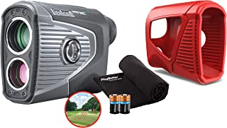 $569 » Bushnell Pro XE Golf Laser Rangefinder Bundle | with Protective Skin (Red), Microfiber Towel and Extra CR2 Battery | 20195...