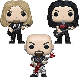 Funko Rocks: POP! Juego de colectores de cazadores: Jeff Hanneman, Tom Araya, Kerry King.