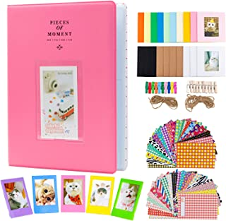 Amimy Photo Album Accessories Conjuntos de Juegos para Fujifilm Instax Mini 7s 8 8+ 9 25 50s 70 90, Polaroid Snap PIC-300,...