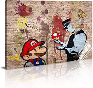Canvas Wall Art Framed Wall Decor Banksy Art Wall Art for Bedroom Artwork Colorful Figure Street Graffiti 20