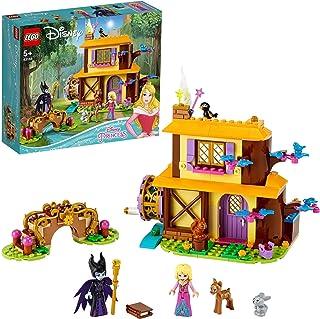 LEGO 43188 Disney Princess Aurora's Boshut met 2 Poppetjes en Dierenfiguren, Speelgoed voor Kinderen van 5 Jaar en Ouder