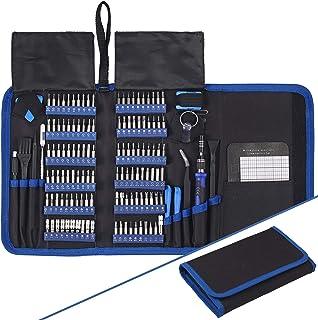 AUTOUTLET ドライバーセット 140 in 1 精密ドライバーセット 修復ツールキット 磁気 専門的 取り外し可能なツール iPhone X、8、7 /携帯電話/コンピューター/タブレット/ゲーム機/電子機器などに適用 スクリュードライ...