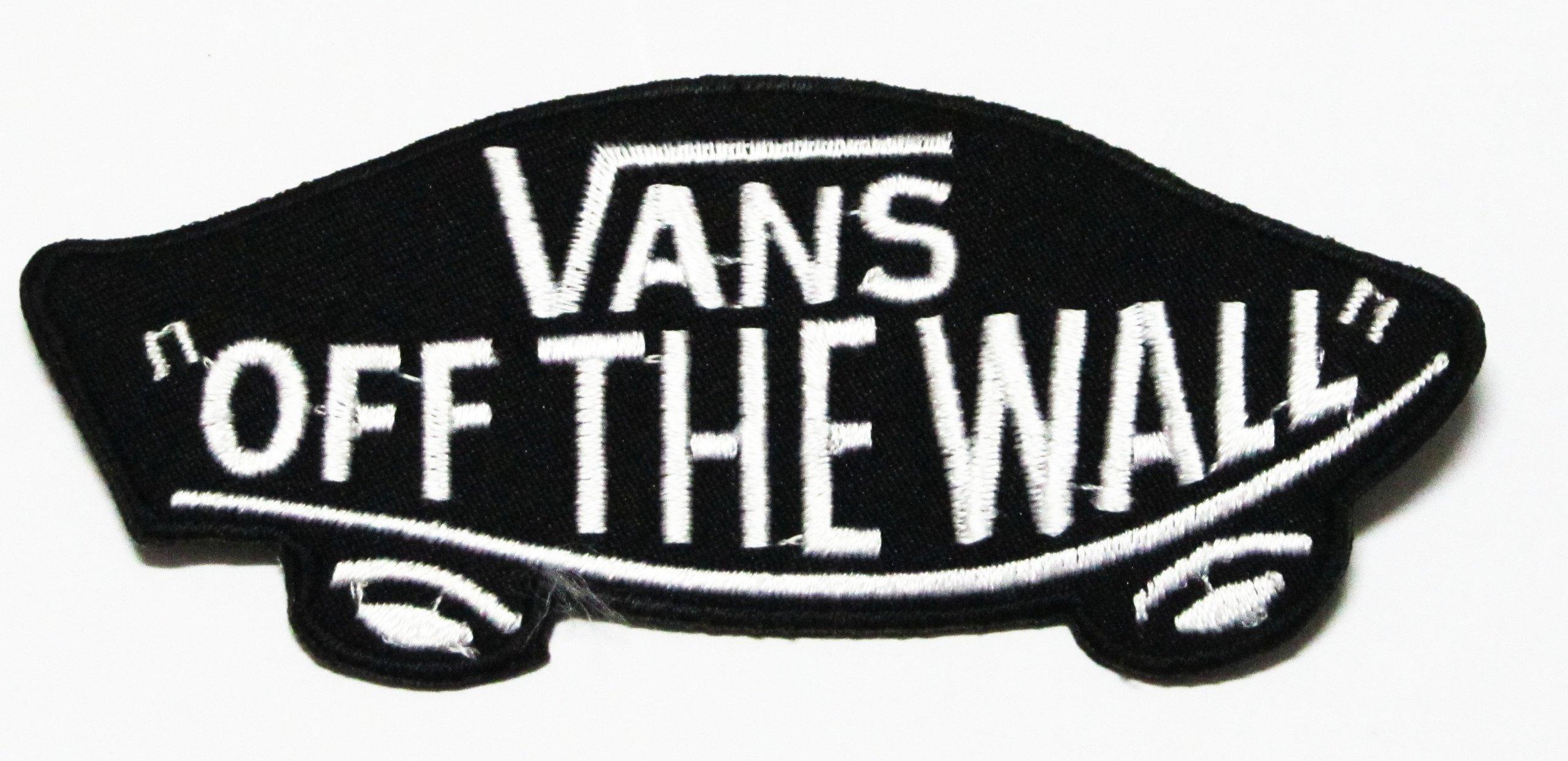 Amazon.com: Vans Off the Wall Skate Logo Black Colour Patches ...