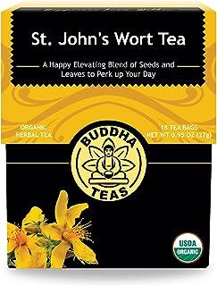 Organic St. John's Wort Tea, 18 Bleach-Free Tea Bags –Caffeine Free Tea Makes a Great Pre-Bedtime Relaxant, Decreases Cycl...