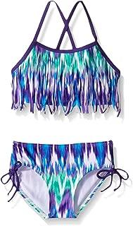 Girls' Kelly Beach Sport Fringe 2-Piece Bikini Swimsuit