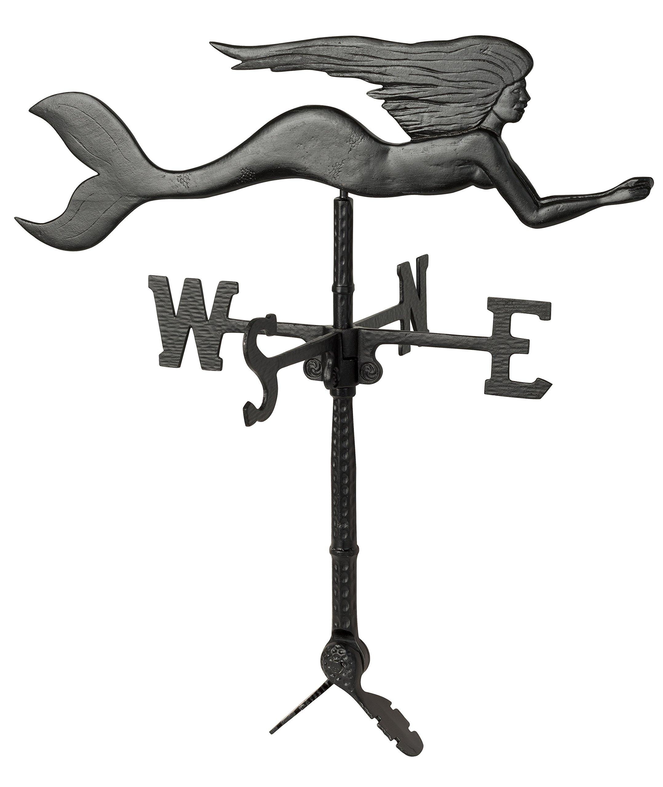 Black 32 Montague Metal Products WV-286-SB Mermaid Weathervane