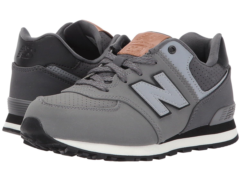 (ニューバランス) New Balance メンズランニングシューズ?スニーカー?靴 KL574v1 (Little Kid) Grey/Black グレー/ブラック 11.5 Little Kid (18cm) W