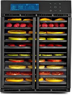 Excalibur RES10 10-Tray Electric Food Dehydrator with Smart Digital Controller Features Two Drying Zones with Adjustable T...