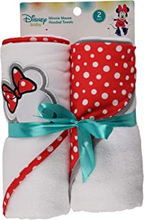 Disney Minnie Mouse 2 Piece Infant Hooded Towel,