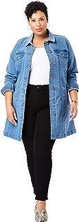 Jessica London Women's Plus Size Long Denim Jacket