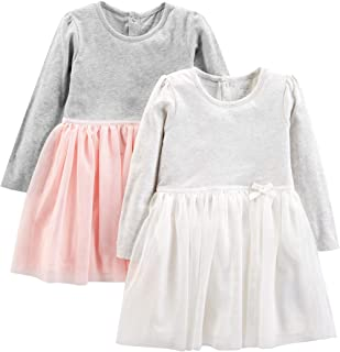 Toddler Girls' 2-Pack Long-Sleeve Dress Set with Tulle