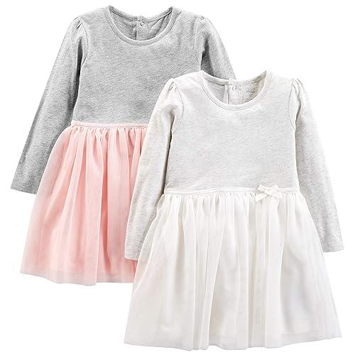 d83e7cbf Simple Joys by Carter's Toddler Girls' 2-Pack Long-Sleeve Dress Set with