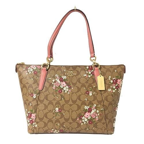Coach AVA Leather Shopper Tote Bag Handbag e379416f6e192