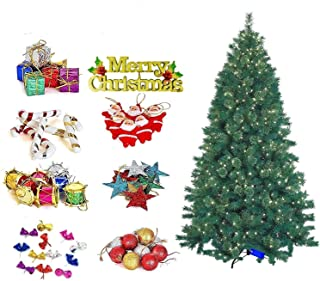 The Click India Christmas Tree Decorations Item Balls,Bells, Gifts, Drums, Snow Stars,Sticks, Santa Claus, Candy, Christma...