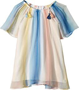 Chloe Kids - Mini Me Couture Dress Rainbow Striped (Toddler/Little Kids)