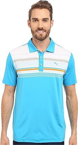 Short Sleeve Key Stripe Polo
