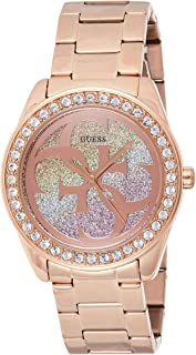 GUESS Womens Quartz Watch, Analog Display and Stainless Steel Strap - W1201L3