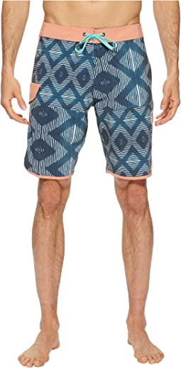 VISSLA Sumbawa Washed Four-Way Stretch Boardshorts 20""