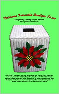 Christmas Poinsettia Boutique Tissue: Plastic Canvas Pattern