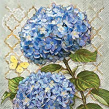 Celebrate the Home Floral 3-Ply Paper Luncheon Napkins, Blue Heirloom Flowers, 20-Count