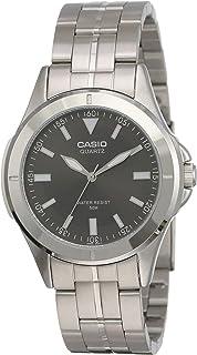 ساعة عصرية بسوار معدني من كاسيو، طراز MTP-1214A-8AVDF (CN)، سوداء اللون