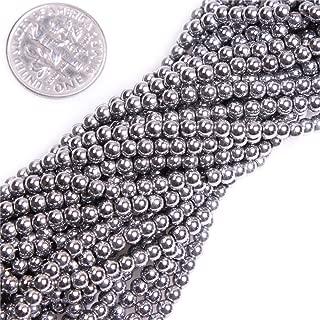 3mm Round Black Hematite Gemstone Loose Beads for DIY Jewelry Making 15