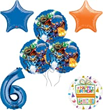 Skylanders 6th Birthday Party Supplies and Balloon Decoration Bouquet Kit