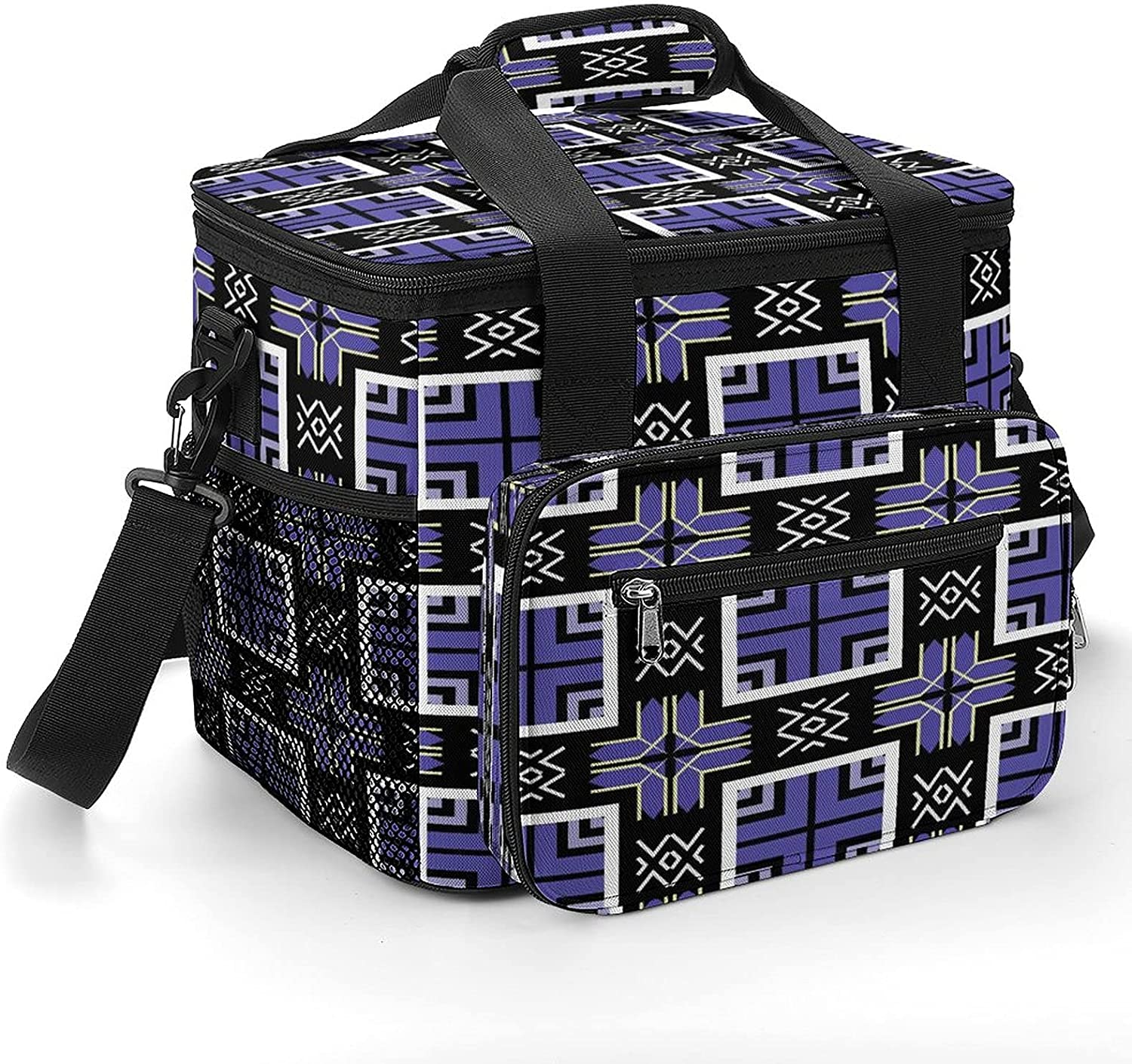 European Retro Pattern 8 Cooler Bag Insulate Free shipping New Shoulder Inexpensive with Strap