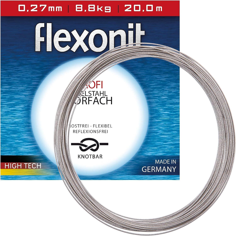 Flexonit Stahlvorfach Angeln Meterware - 7x7 XXL 0,72mm 43,0kg 500m