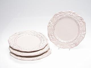 Certified International Firenze Ivory 9-1/2-Inch Salad/Dessert Plate, Set of 4
