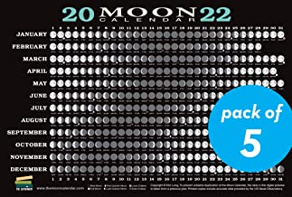 2022 Moon Calendar Card (5 pack): Lunar Phases, Eclipses, and More!