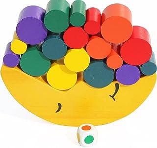 comprar comparacion TOWO Juguete Apilador de Madera - Juego de Equilibrar la con los Bloques de Construcción para Aprender los Colores, a apil...