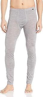Hanro Men's Light Merino Longleg Pajama Bottom, Silver, Medium