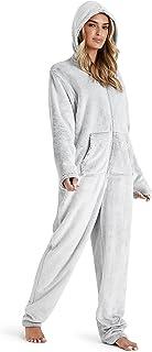CityComfort Onesie Dames, Luipaardprint Loungewear, Huispak Fleece, Eendelige Pyjama Meisjes, Nachtkleding voor Dames, Zip...