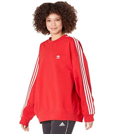 adidas Originals 3-Stripes Oversized Sweatshirt (Scarlet) Women
