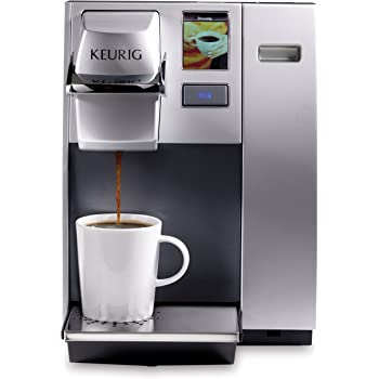 Keurig K155 Office Pro Commercial Coffee Maker, Single Serve K-Cup Pod Coffee Brewer, Silver,Extra Large 90 oz. Water Reservoir