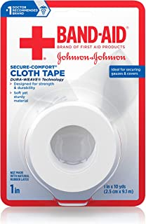 Band-Aid Brand of First Aid Products Cloth Tape, All-Purpose, 1 Inch by 10 Yards