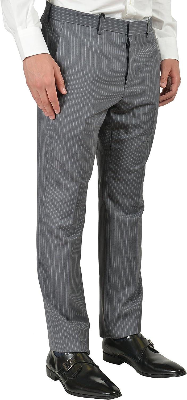 Just Cavalli Men's Gray 100% Wool Striped Suit Size US 38 IT 48