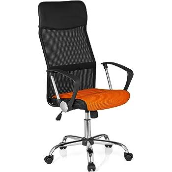 hjh OFFICE 685339 chaise de bureau, siège pivotant ORION NET noirorange
