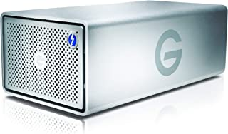 G-Technology 20TB G-RAID with Thunderbolt 3, USB-C (USB 3.1 Gen 2), and HDMI, Removable Dual Drive Storage System, Silver - 0G05763