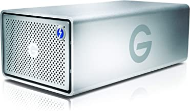 G-Technology 8TB G-RAID with Thunderbolt 3, USB-C (USB 3.1 Gen 2), and HDMI, Removable Dual Drive Storage System, Silver -...