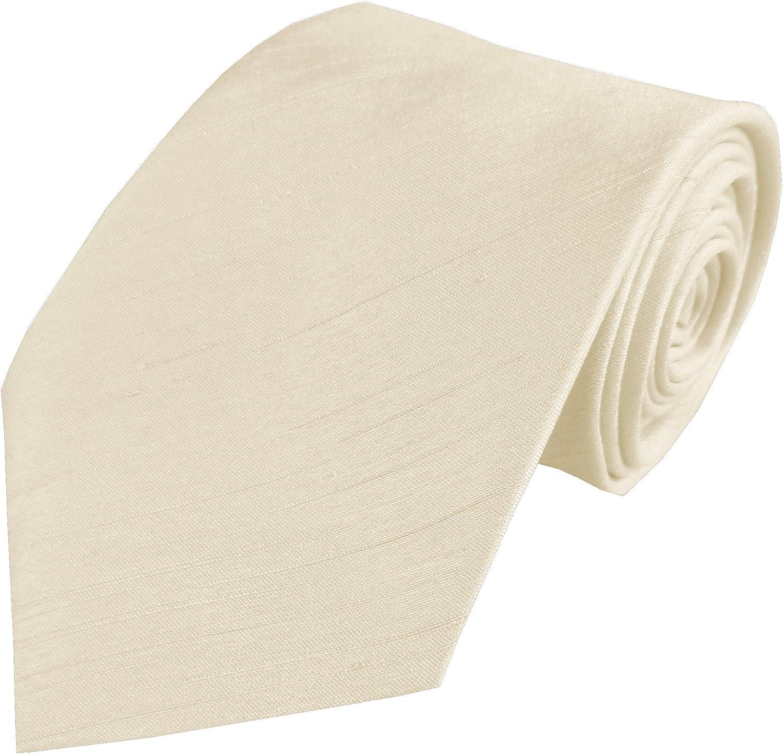 Men's Dupion Wedding Ties & Pocket Squares - 10 Colors
