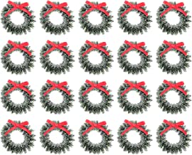 20 Pcs Artificial Wreaths Christmas Wreath Decors Chic Garland Decors (Assorted Color) Home Decoration