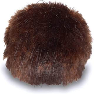 Bernat Faux Fur Pom Pom, 3 in, Brown Muskrat